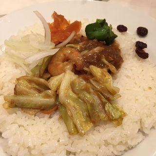 エビ野菜カレー(インド式 チャオカリー 汐留店 (炒伽哩))