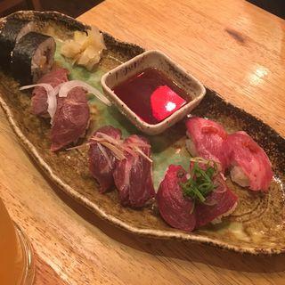 福来る盛り合わせ 10貫盛り(加藤商店 バル肉寿司 since2010 by 炉とマタギ (バルニクスシ))