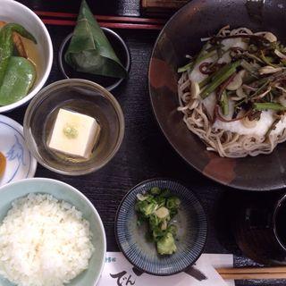 山菜とろろそばセット(京 貴船 でんべ)