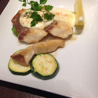 白身魚のグリル クリームネーズソース(味くらぶ まさや)