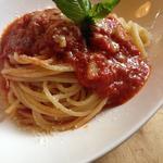 にんにくのトマトソースパスタ スープセット(ピッツェリアイルピッコリーノ)