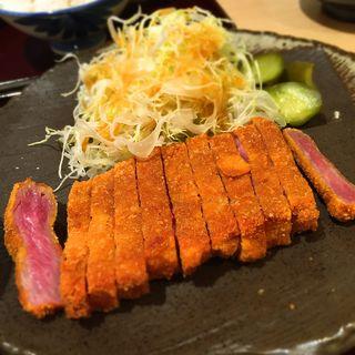 牛ロースカツ膳(勝牛 京都駅前店)