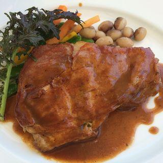 豚肉の生ハム巻きグリル&鎌倉野菜(石窯ガーデンテラス)