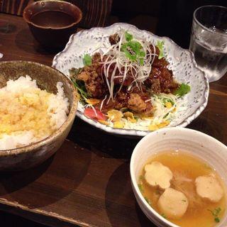 鶏ねぎソース定食(鶏っく)
