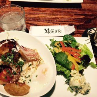 ランチメニュー ロコモコプレート(猿Cafe 町田マルイ店 (サルカフェ))