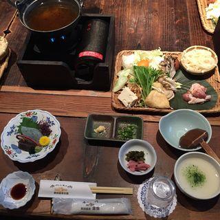 赤城地鶏のうどんすき膳(かやぶきの郷薬師温泉 旅籠)