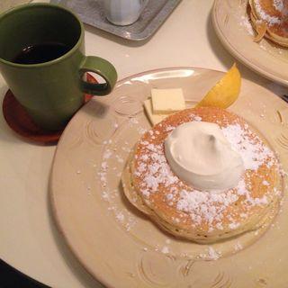 パンケーキセット Aセット(ホイップクリームwithレモン(Pancake APOC)