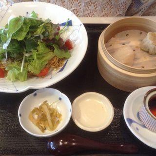 自家製練り胡麻のピリ辛担々麺セット(墨花居 成城コルティ店 ボッカキョ セイジョウコルティテン)