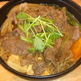 すき焼き鍋定食(洋食屋牛銀)