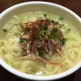 鶏肉刀削麺(唐朝刀削麺 人形町店)