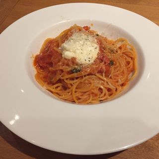 生トマトとバジリコ、リコッタチーズのポモドーロ スパゲティーニ(ピッツェリア ドォーロ ローマ 台場店 (Pizzeria D'oro ROMA))