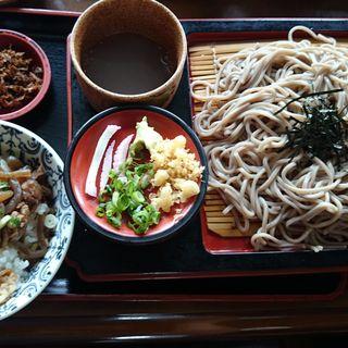 ざるそば(ミニ丼付)(国境食堂)