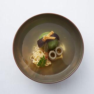 抹茶団子と秋の食材(割烹 花和清 (カッポウカワセ))