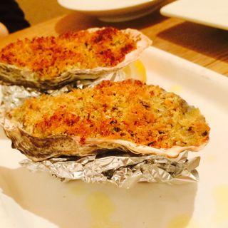 牡蠣のガーリックホイル焼き(茶日)