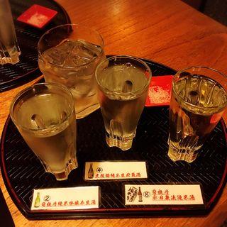 日本酒3種飲み比べ(琉球割烹ダイニング 司 )