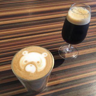 アイスコーヒー・カフェラテ(メロウ ブラウン コーヒー 自由が丘本店 (MELLOW BROWN COFFEE))