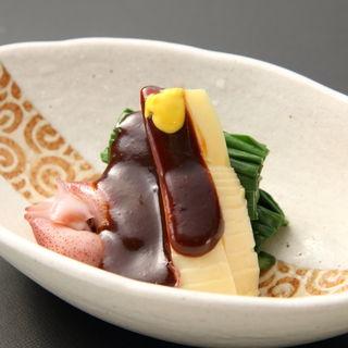 ホタルイカと筍の味噌和え(八雲 )