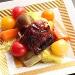 チャーシューとグリル野菜