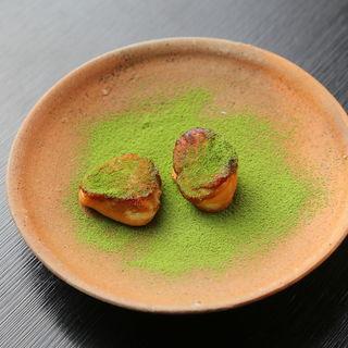 フォアグラのソテー 抹茶(鹿部戸 (かぶと))
