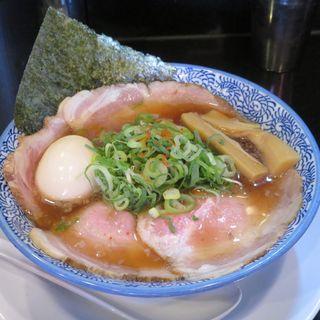 背油醤油らーめん+肉増し+味玉(ぶたコング )