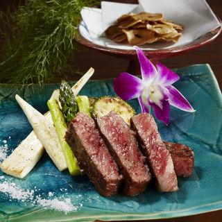 和牛のステーキ(日本料理 「源氏」 ヒルトン名古屋 (げんじ))