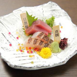 マグロと真鯛のお造り(銀座あしべ )