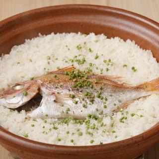 真鯛の土鍋(芝濱 (ginza shibahama))