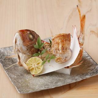 真鯛の塩焼き(芝濱 (ginza shibahama))