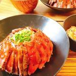 国産牛ステーキ丼定食(佰食屋)
