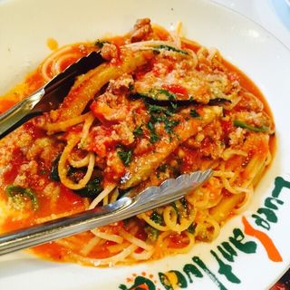 茄子とパルメザンチーズのミートソース(ルーチェサンタルチア松井山手店)