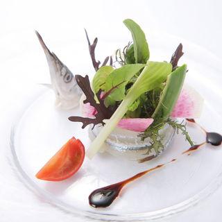 鮮魚の盛り合わせ(Au Temps Briller)