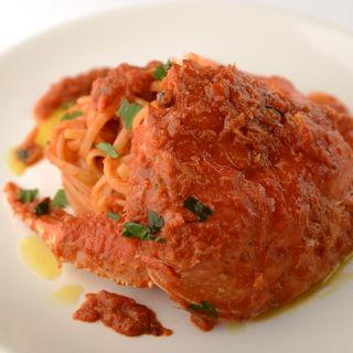 ワタリガニのトマトパスタ(アッラマーノ (ALLA MANO))