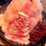 桜ミルクかき氷