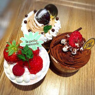 フリュイルージュのショートケーキ(ドリンクセット)(ラ・プティ・メルスリー ルミネ有楽町店 (la petite mercerie))