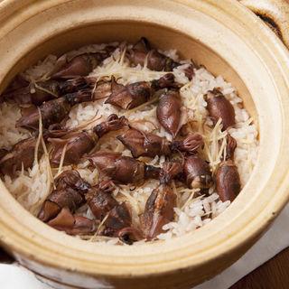 ホタルイカの土鍋(麻布淺井 )