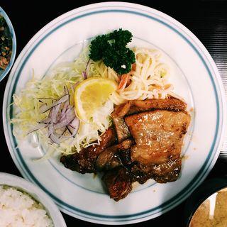 生姜焼き定食(常盤食堂 (ときわ))