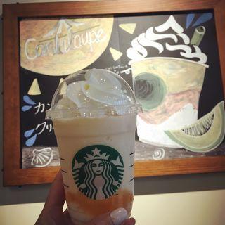 カンタロープメロン&クリームフラペチーノ(スターバックスコーヒー 恵比寿ファーストスクエア店 (STARBUCKS COFFEE))