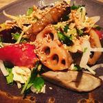 湯葉と根菜のサラダ