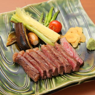 和牛のステーキ(鉄板ダイニング織部 )