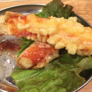日本一の蟹天ぷら(活蟹とシャンパン 牡蠣ベロ 新橋店 )