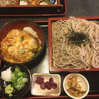 ざる蕎麦とミニカツ丼セット(森膳 )