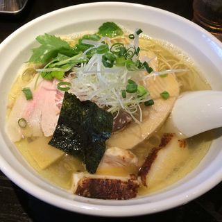 朝採り筍と焼きアゴの塩そば(柳麺まる重)
