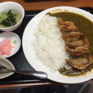 揚餃子カレーセット(鶴餃子 )