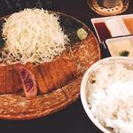 牛かつとろろ麦飯セット(牛かつ もと村 渋谷店 )