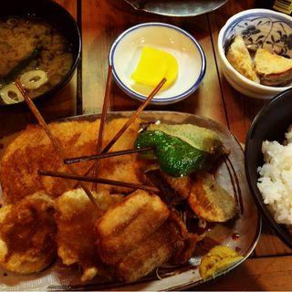 野菜フライ定食(葉牡丹)