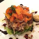 錦爽鶏と砂肝のコンフィグリル