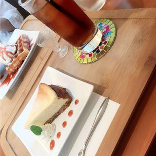 甘さ控えめチーズケーキ(cafe kuu)