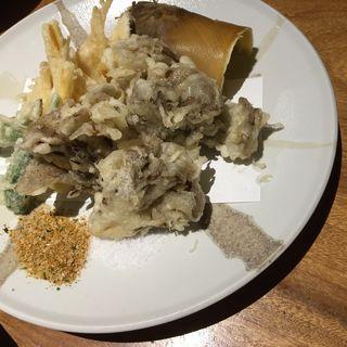筍と舞茸の天ぷら(季節屋久)