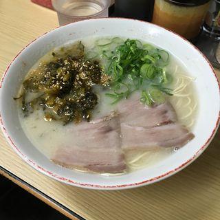 高菜ラーメン(長浜ナンバーワン 祇園店)