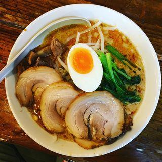 担々麺+辛め+焼豚(かおたんラーメン えんとつ屋 南青山店)